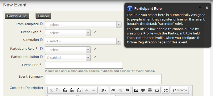 creating an event civicrm user guide civicrm documentation